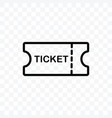 ticket icon isolated on transparent background vector image