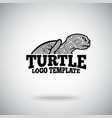 Turtle logo template for sport teams vector image vector image
