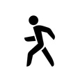 Walking man isolated silhouette vector image vector image