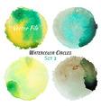 Watercolor Green and Yellow Colorful Circles Set
