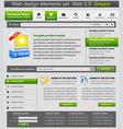 Web design elements set green
