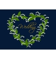 Wedding card design with lilies of the valley vector image vector image