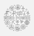 wind power outline vector image