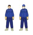 Worker electrician vector image vector image