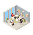 working place isometric people businessman vector image