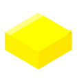 yellow sticky notes post it isometric view vector image vector image