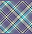 blue gray color check plaid seamless fabric vector image