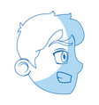 comic face guy angry expression vector image