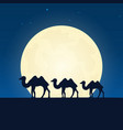 egypt africa silhouette of attraction travel vector image