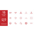 15 friendship icons vector image vector image