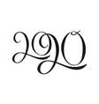 2020 hand written lettering vector image vector image