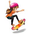 A girl skateboarding vector image vector image