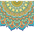 abstract mandala flower vintage design imag vector image