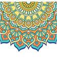 abstract mandala flower vintage design imag vector image vector image