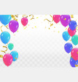 abstract shining party background with gold vector image vector image