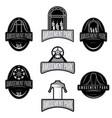 amusement park sport labels set design template vector image
