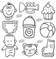 baby element doodles vector image vector image