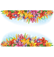 Banners of flowers vector image vector image