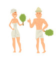 bath people body washing face and bath taking vector image vector image