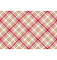 Beige red white plaid seamless background vector image vector image