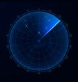 blip hud interface element radar target detection vector image vector image