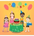 children party with happy boys and girls vector image vector image