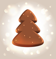 Chocolate new year tree star fugure prize vector image vector image