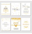 Christmas and New Year Cards - Art Deco Style vector image vector image