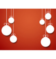 Christmas background with paper balls vector image