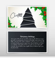 christmas invitation card with creative design vector image