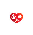 creative pet love logo design symbol vector image