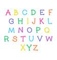 cute cartoon alphabet funny font doodle vector image