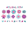 Cute floral elements set vector image