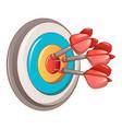 darts target icon cartoon style vector image vector image
