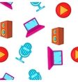 Electronics pattern cartoon style vector image vector image