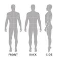 Fashion bald man full length template vector image vector image