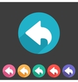 Flat game graphics icon back vector image vector image