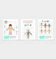 flat human body posters vector image vector image