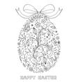 floral easter egg vector image vector image