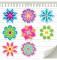 Flower stickers vector | Price: 1 Credit (USD $1)