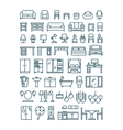 Furniture and sanitary line thin icons vector image vector image