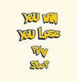 game ui typography design set vector image