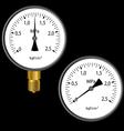 gas manometer vector image vector image