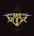 Gold and silver Hard Rock badge - original vector image vector image