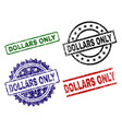 grunge textured dollars only stamp seals vector image vector image