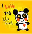 halftone panda vector image vector image