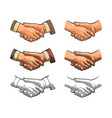 Handshake color vintage engraving