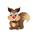 Happy cartoon squirrel vector image vector image