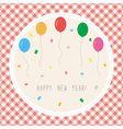Happy new year greeting card2 vector image vector image