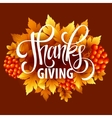 Happy Thanksgiving with text greeting and autumn vector image vector image